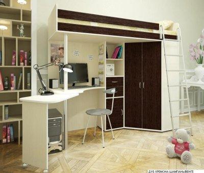 Кровать-чердак, двухэтажная кровать